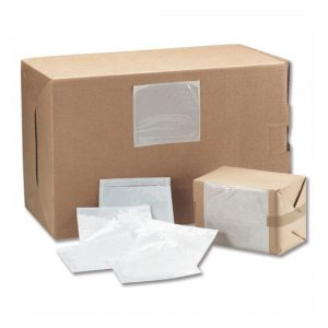 Boxes secured by self adhesive packslopes