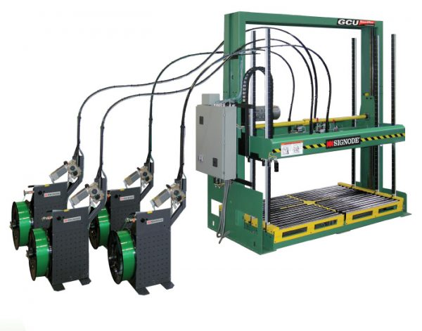 The Signode GCU 2500 Series Compression Strapping Machines