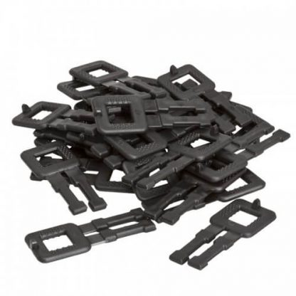 Black plastic strapping buckles