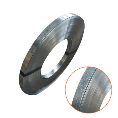 ribbon wound roll of galvanised steel strapping
